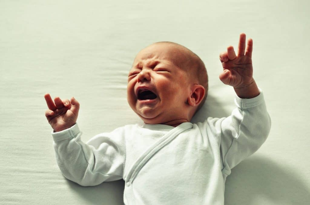 baby wakes up screaming