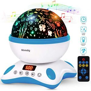 baby night light projector with music
