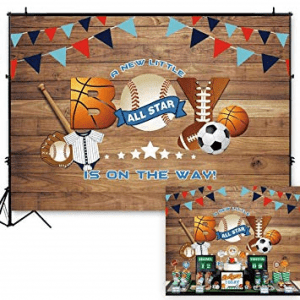 sports themed baby shower decorations*