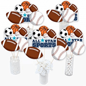 sports theme baby shower decorations
