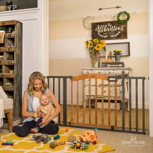 extra wide baby gate pressure mounted